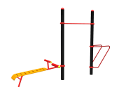 3 person combination outdoor gyms equipment in South Africa - fitness equipment