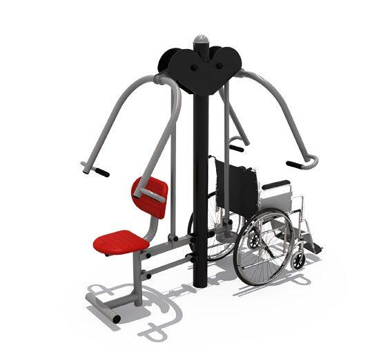 Paraplegic-double-push-chair