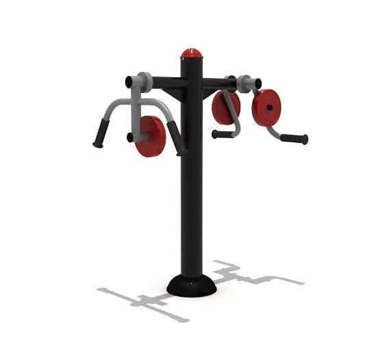 Paraplegic-double-shoulder-weights