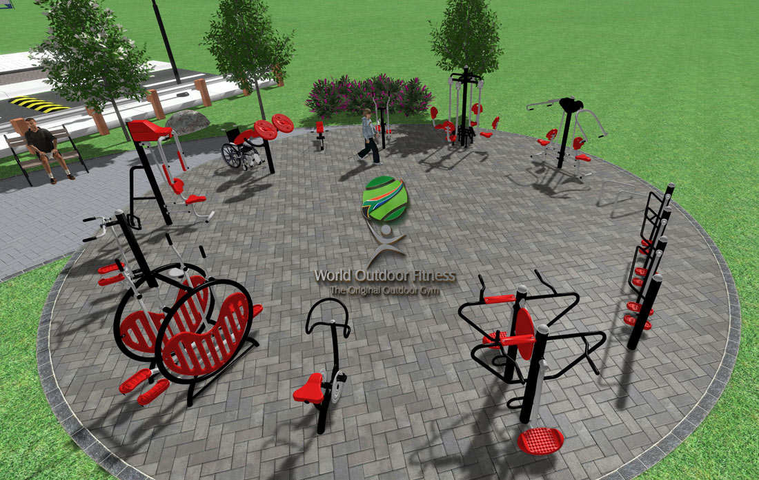 Heavy Equipment Playground >> Outdoor Gym Equipment - World Outdoor Fitness™- Outdoor gym