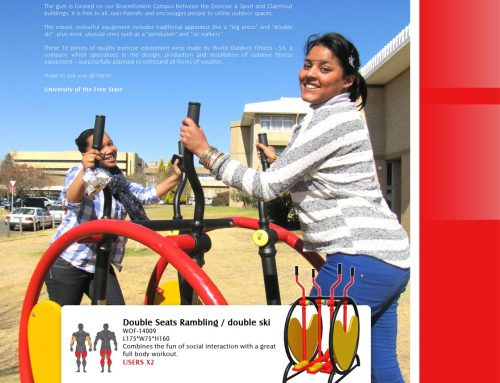 The university of the Free State is the first in South Africa to install an outdoor gym.