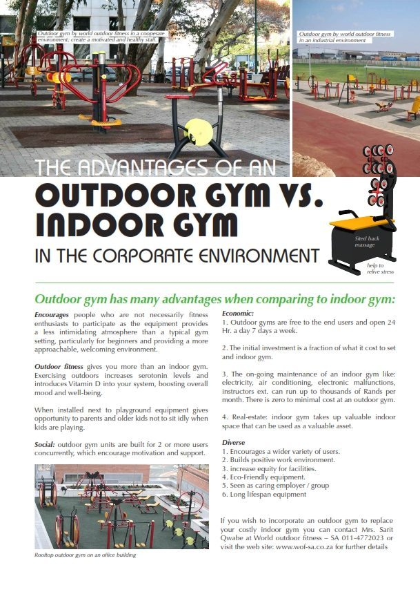 outdoor gym in the corporate environments